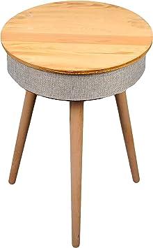 Table en Bois Enceinte avec Chargeur Induction