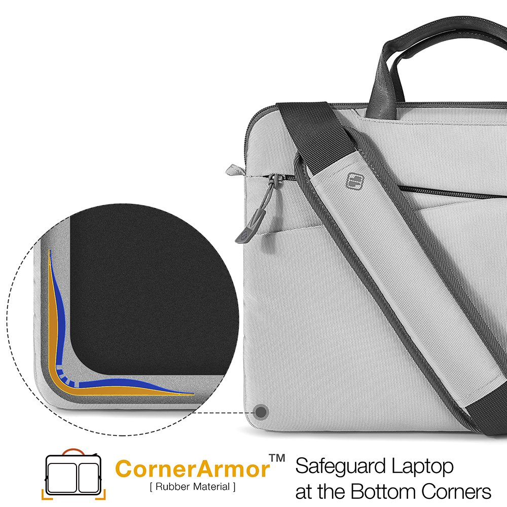 Dell XPS 13 360/° Protection Sleeve with Handle /& Accessory Pocket 12.9 iPad Pro tomtoc 13-13.5 Inch Laptop Shoulder Bag Fit for 13.3 MacBook Air MacBook Pro Microsoft 13.5 Surface Laptop