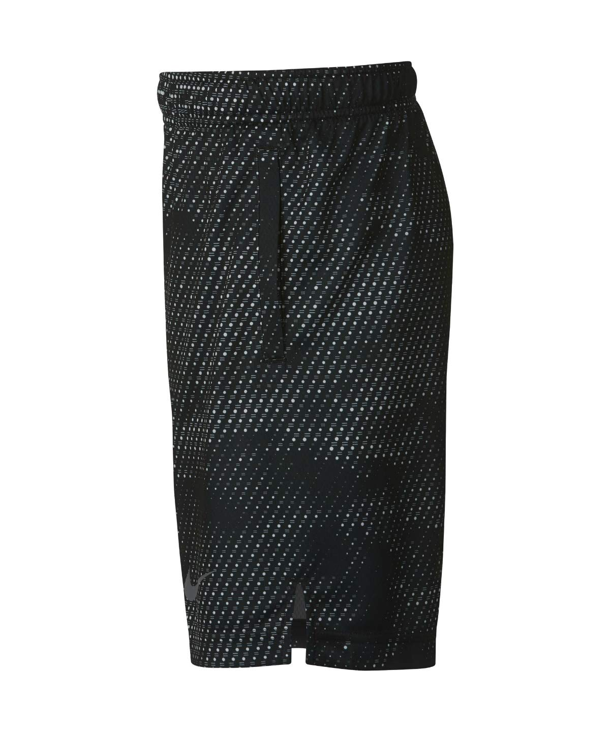 Nike Boy's Athletic Dry Printed Fly Comfortable Elastic Training Shorts with Pockets (Black/Small) by Nike (Image #3)