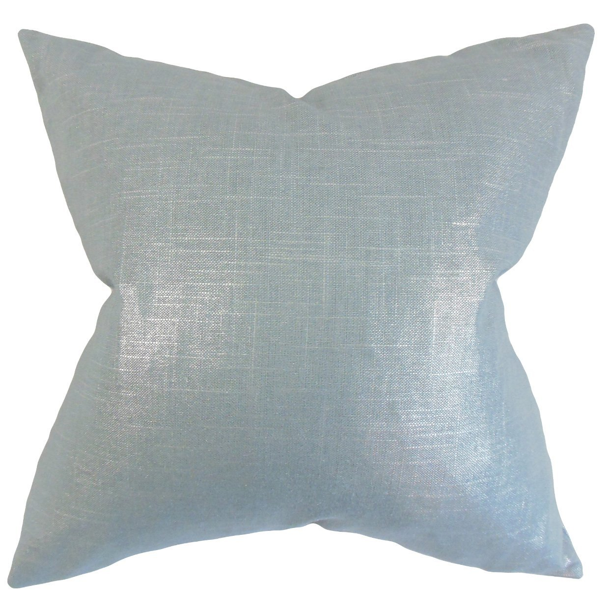 The Pillow Collection Florin Solid Bedding Sham Light Blue Queen//20 x 30,