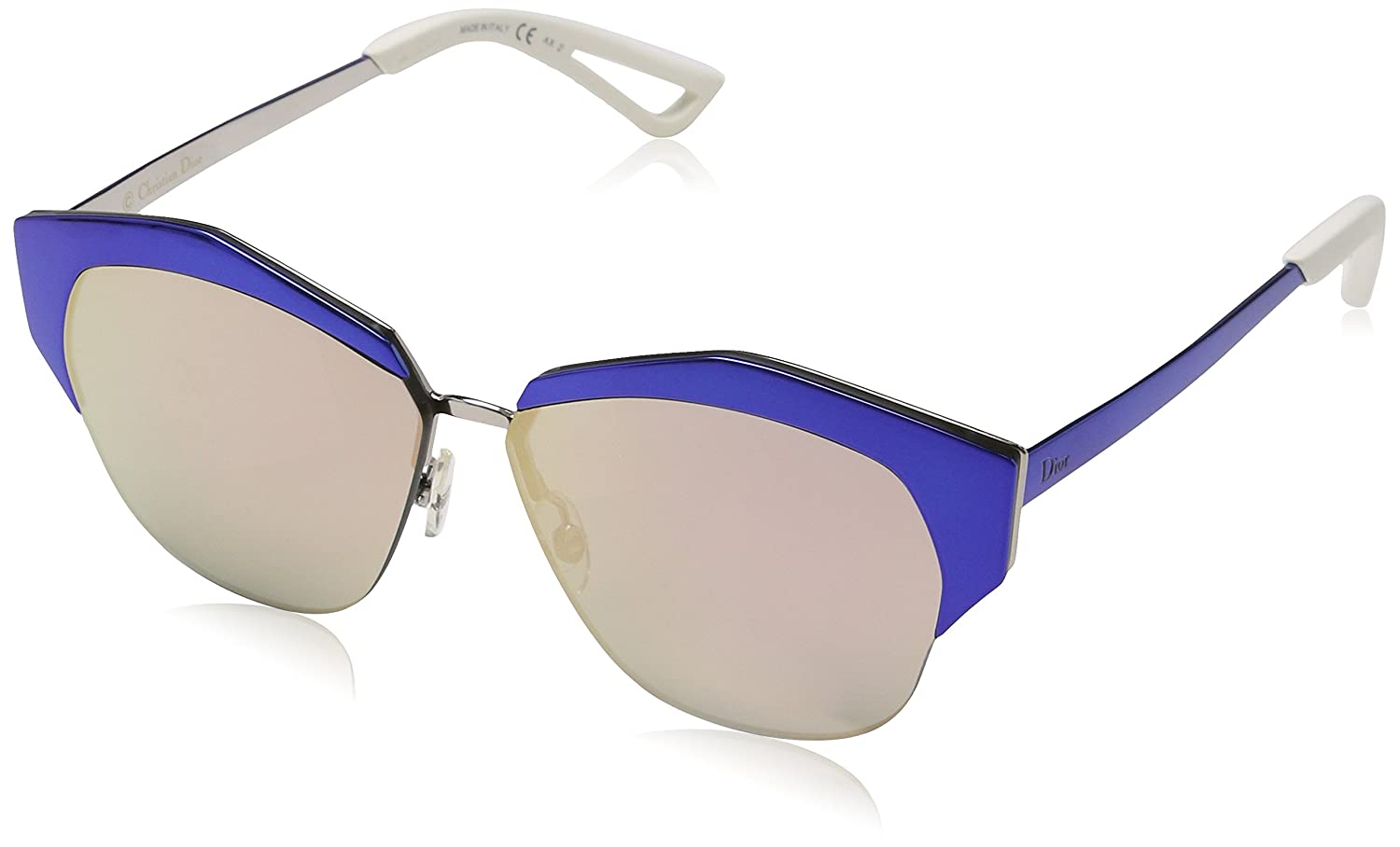 454bb7c463f Amazon.com  Christian Dior Mirrored S Sunglasses Violet Rose Gold   Red  Mirror  Clothing