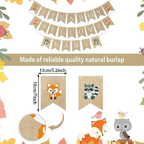 2 Wald Kreaturen Banner Fuchs Wald Tier Freunde Girlande Geburtstag Party Dekor 1 Its A Boy Rustikale Sackleinen Banner 1 Welcome Baby Banner Wald Baby Dusche Tier Banner Dekoration