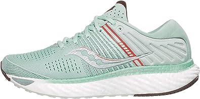 Saucony Triumph 17 Sky Grey/Coral, Zapatillas de Atletismo Mujer: Amazon.es: Zapatos y complementos