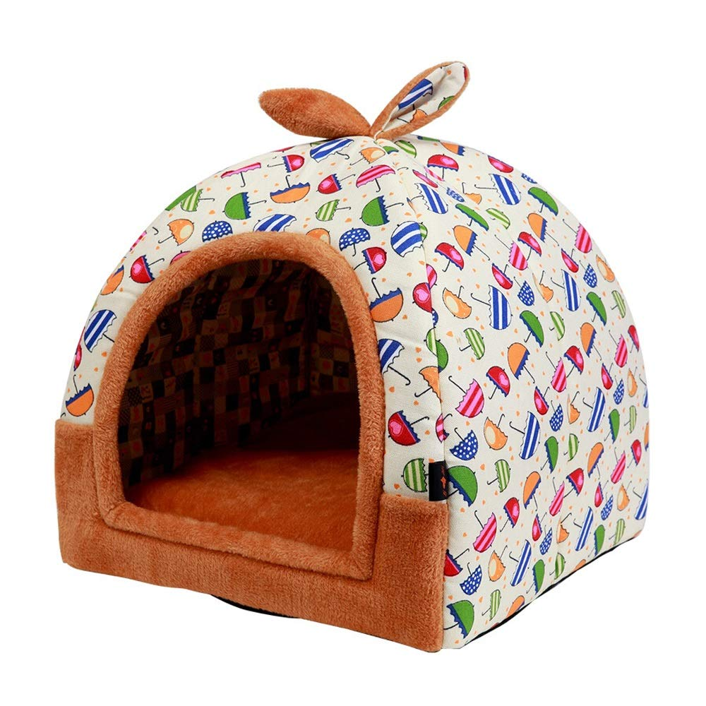 B 474752cmJiaJia Pet Nest Kennel Cat Litter Removable and Washable Small Dog Teddy Pet Nest Pad Dog House Four Seasons Universal Pet  Three colors Optional Kitten Puppy pet nest