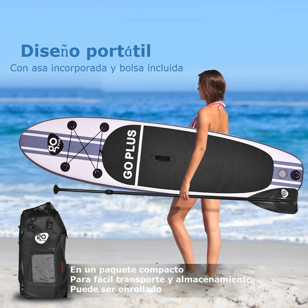 COSTWAY Tablas Paddle Hinchables Remo Surf Board Tablero Sup Stand Up Board Set 305 x 76 x 15cm Inflable Blanco: Amazon.es: Deportes y aire libre