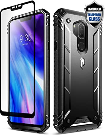 LG G7 Case, LG G7 ThinQ Rugged Case, Poetic Revolution [360 Degree Protection] Full-Body Rugged Heavy Duty Case [with Tempered Glass] for LG G7 ThinQ ...