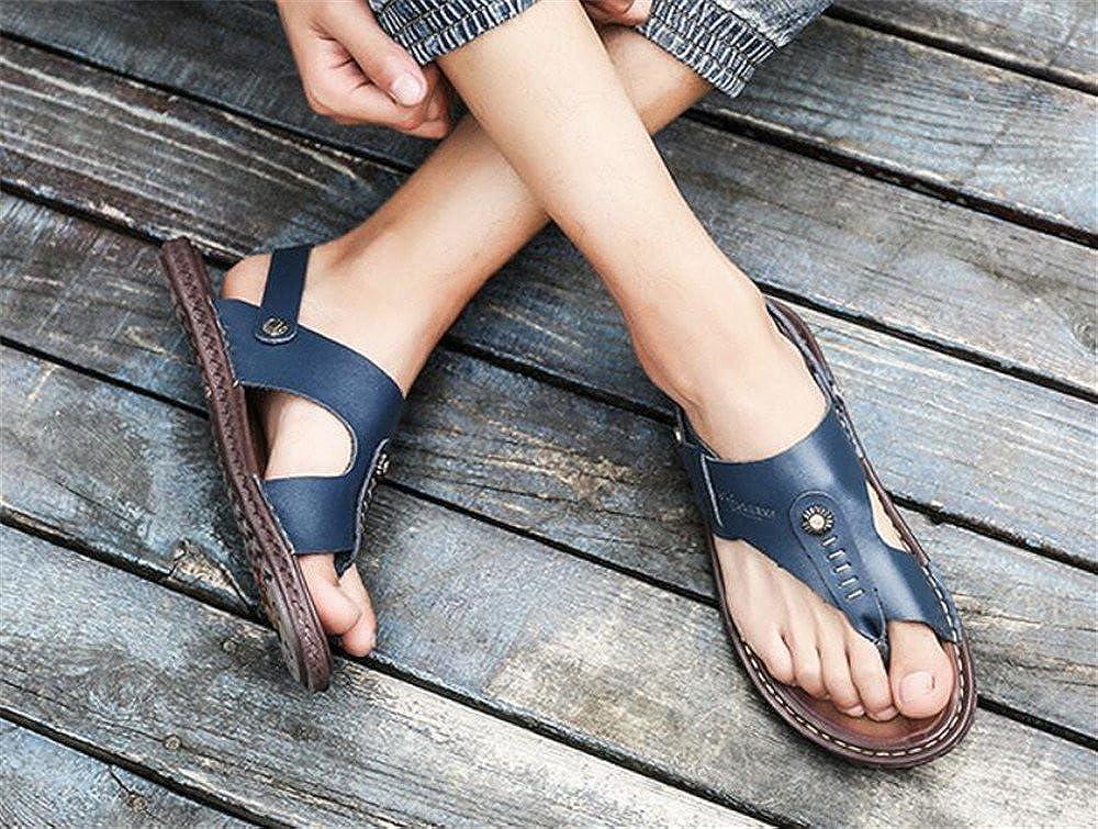 coollight Mens Flat Slippers Comfortable Non-Slip Flip Flops Home Bathroom Slippers Male Beach Slippers