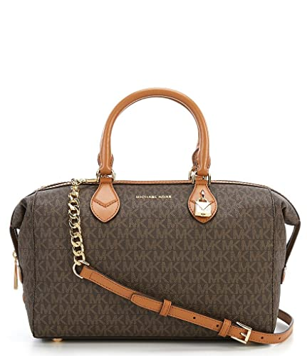 b978032b382d72 Amazon.com: NEW AUTHENTIC MICHAEL KORS GRAYSON SIGNATURE CONVERTIBLE SATCHEL  (Brown/Luggage): Shoes