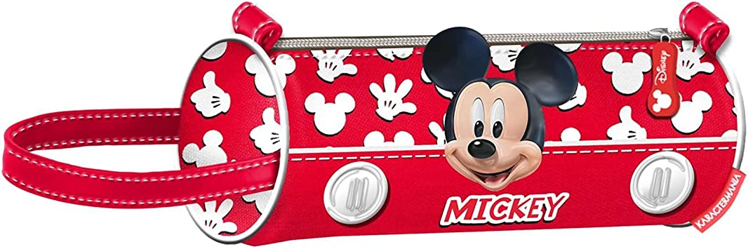 Mickey Mouse Estuche portatodo cilindrico, Color Rojo, 22 cm (Karactermanía 30995): Amazon.es: Juguetes y juegos