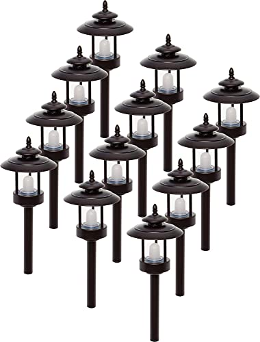 Westinghouse 12 Pack 100 Lumen Low Voltage LED Pathway Light Landscape Lights Bronze