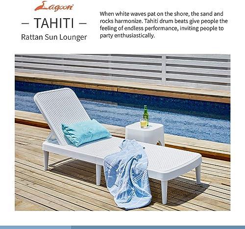 Lagoon Tahiti Rattan Sun Lounger – White