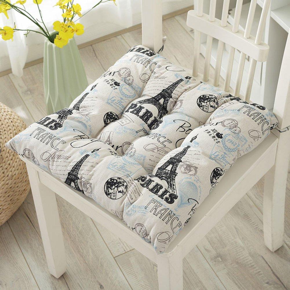 Floor Dining Chair-A 40X40cm Creativity Chair Cushions Non-Slip Washable Seat pad for car Set of 4 100/% Cotton Cushion Office