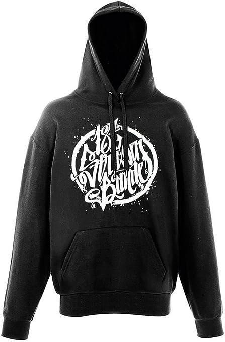schwarzer hoody mit dem 187 ink logo