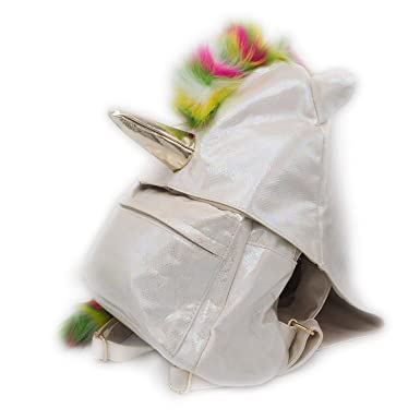 5382ccbd86f61a Image Unavailable. Image not available for. Color: Sleekly White Unicorn  Backpack ...