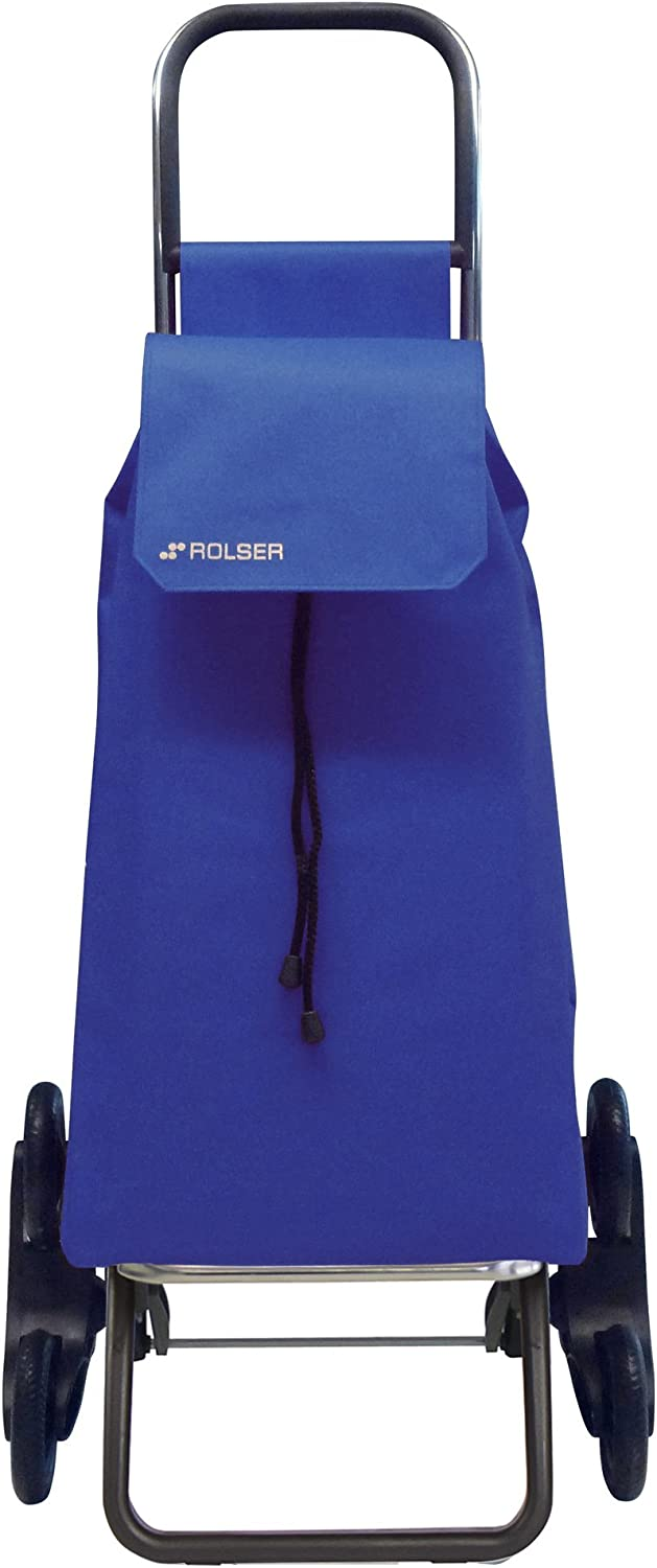 Rolser SAQ006 - Carro de compra (nylon, plegable, 47.5 x 40 x 107 cm, 43 L, 6 ruedas), color azul: Amazon.es: Hogar