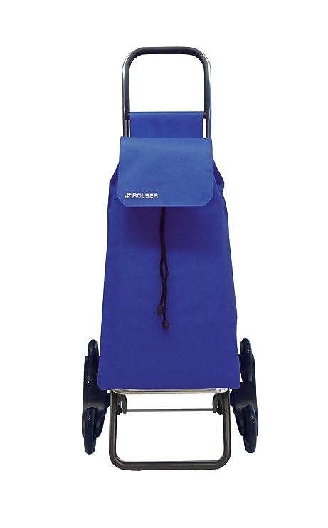 Rolser SAQ006 - Carro de compra (nylon, plegable, 47.5 x 40 x 107 cm, 43 L, 6 ruedas), color azul