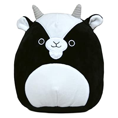 Squishmallow 8 Inch Gregory The Goat Stuffed Animal, Super Pillow Soft Plush Toy, Black: Kitchen & Dining