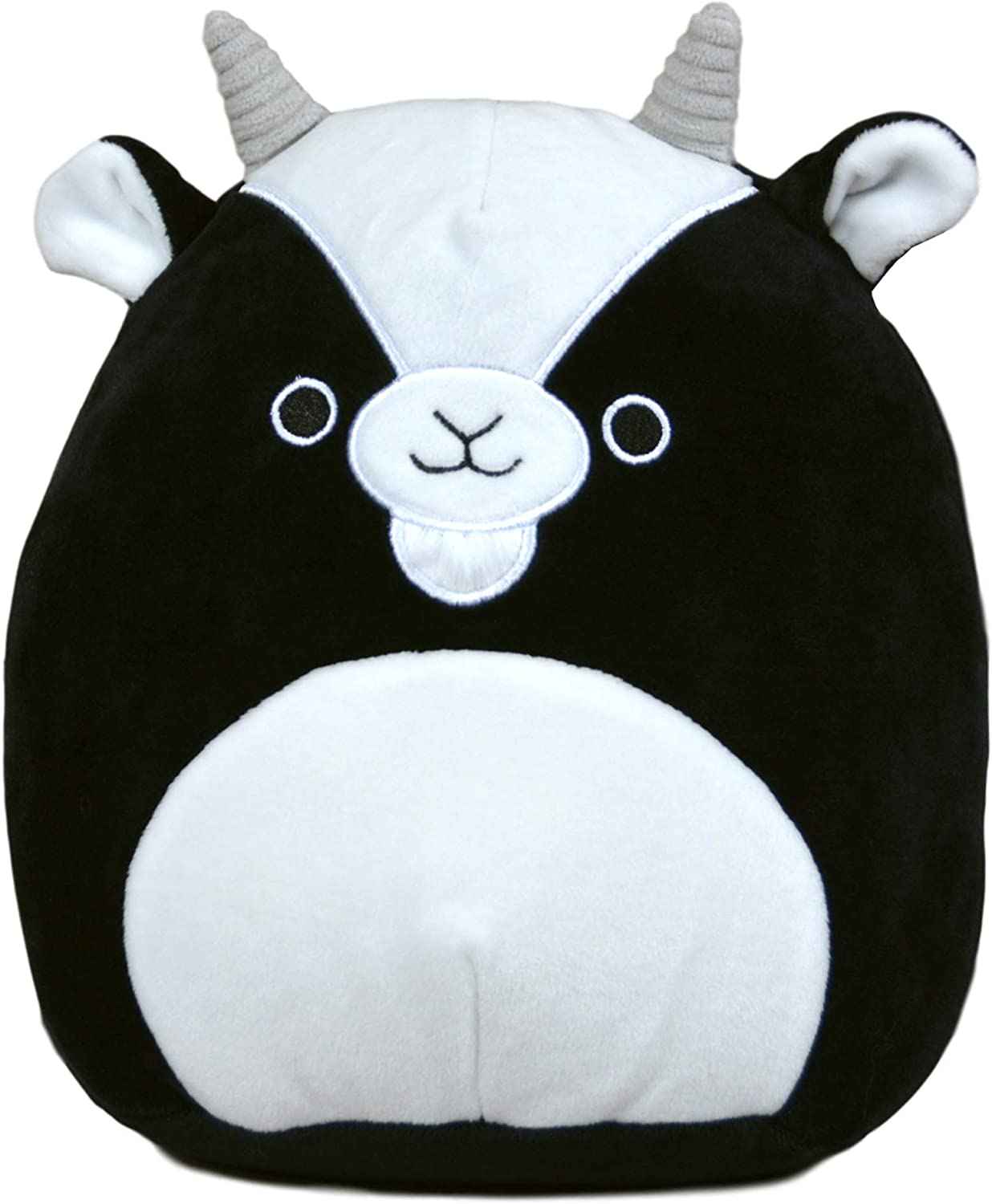 Squishmallow 8 Inch Gregory The Goat Stuffed Animal, Super Pillow Soft Plush Toy, Black