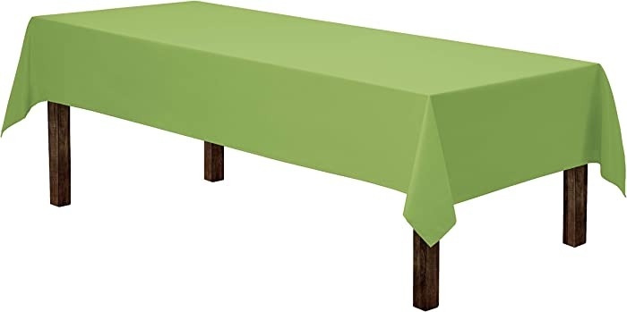 Gee Di Moda Rectangle Tablecloth - 60 x 102 Inch | Apple Green Rectangular Table Cloth for 6 Foot Table in Washable Polyester | Great for Buffet Table, Parties, Holiday Dinner, Wedding & Baby Shower