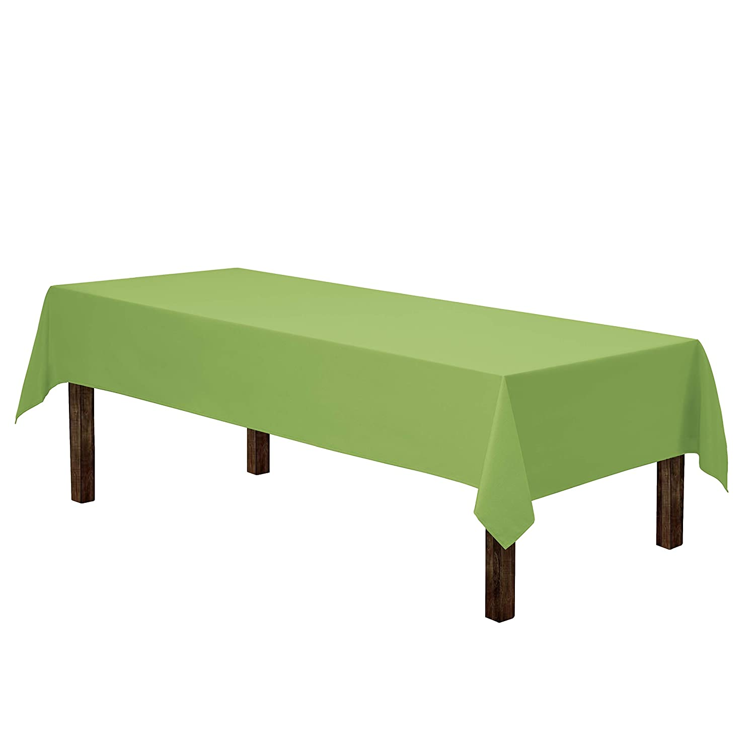 Gee Di Moda Rectangle Tablecloth - 60 x 126 Inch - Apple Green Rectangular Table Cloth for 8 Foot Table in Washable Polyester - Great for Buffet Table, Parties, Holiday Dinner, Wedding & More