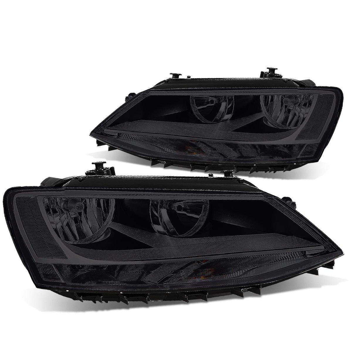 Driver /& Passenger Side DNA Motoring HL-OH-VWJETTA11-SM-CL1 Headlight