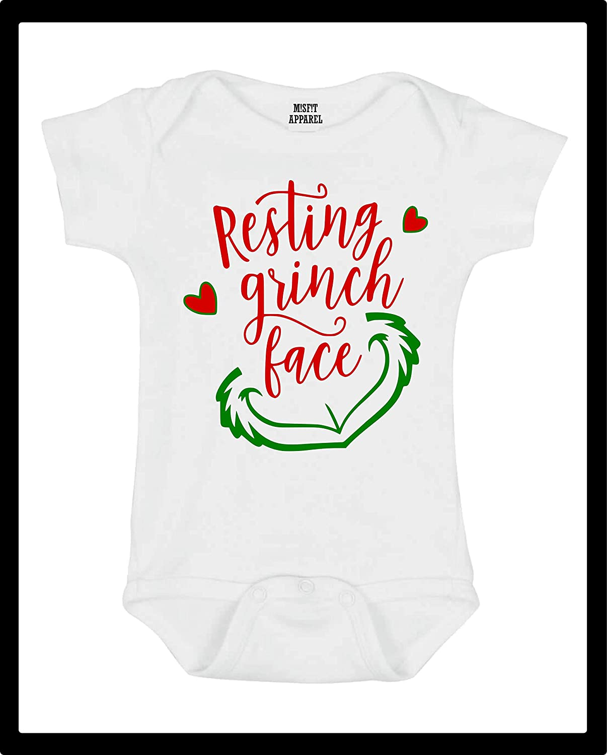 Resting Grinch Face Grinch Who Stole Christmas Baby Unisex Boy/Girl Bodysuit