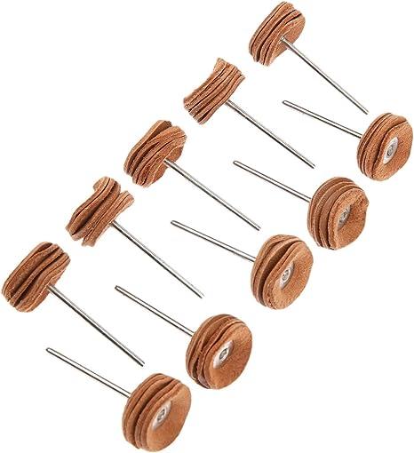 Jewelry Polishing Buffing Wheels Horsehair Buffing Polishing Wheel Set with 3mm Shank 1INCH NGe 10Pcs 25mm