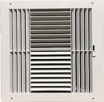 "Deflecto Ceiling Register 4-Way Fits 12/"" x 12/"" Vent Cover"