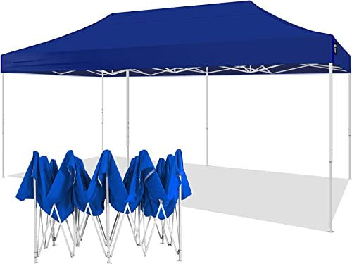 AMERICAN PHOENIX Canopy Tent 10×20 Pop Up Instant Shelter Shade Heavy Duty Commercial Outdoor Party Tent 10x20FT White Frame