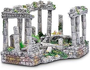 Parrots Treasure Aquatic Planet Roman Square Pillars Aquarium Fish Tank Ornament Decoration