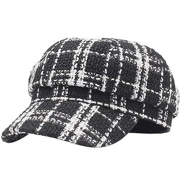 GHC Gorras y Sombreros Bellet Fashion Latticed Gorra Mujer Otoño ...