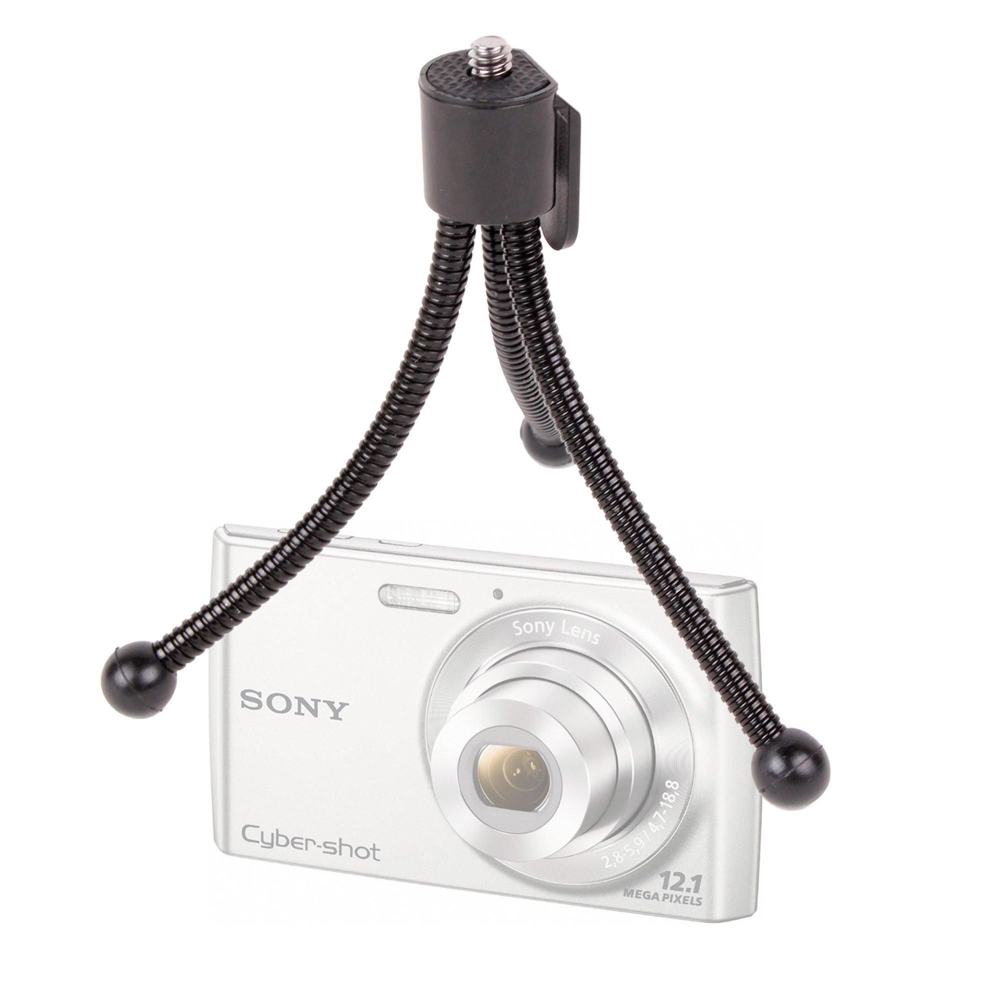 DURAGADGET Collapsible Miniature Digital Camera Tripod For Sony Cyber-shot HX20V, RX100 & DSC-HX9V