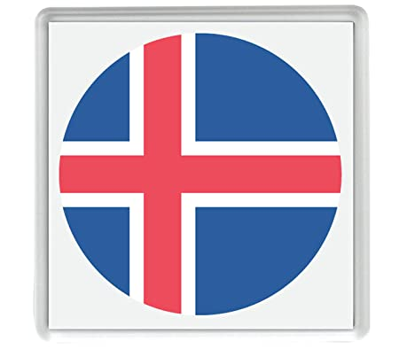 Marca para Islandia Emoji 58mm x 58mm Nevera Imán/Flag for Iceland ...