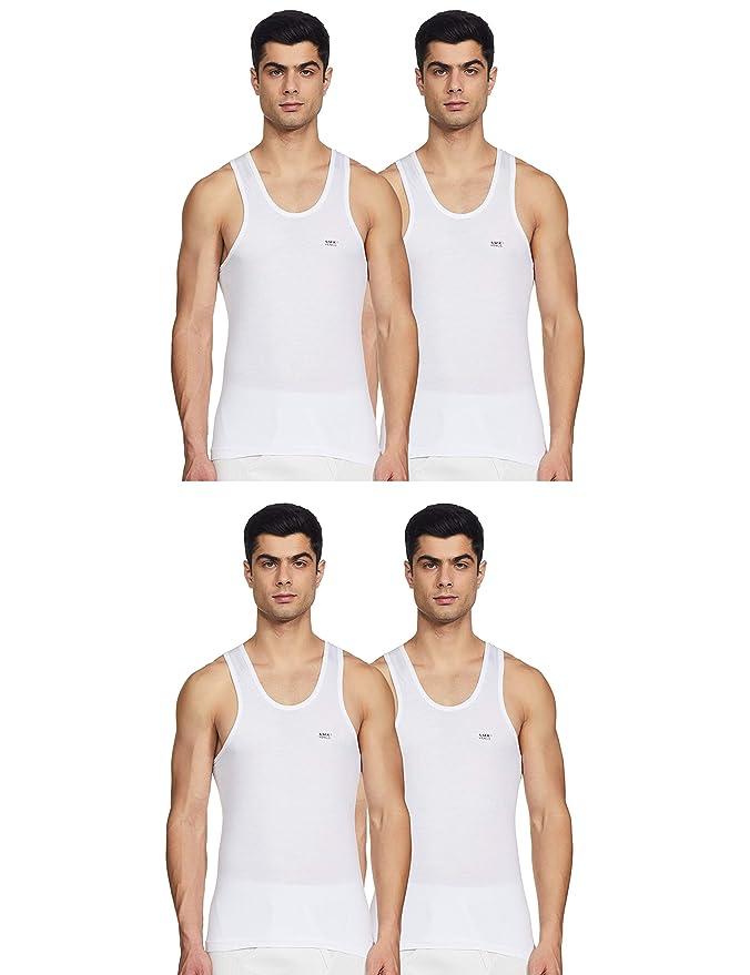 LUX VENUS Men\'s Cotton Vest  Pack of 4  Men\'s Underwear Vests