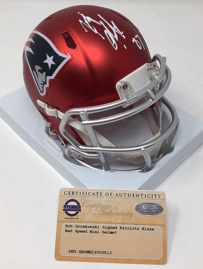 half off b29dc c8458 Amazon.com: ROB GRONKOWSKI Autographed New England Patriots ...