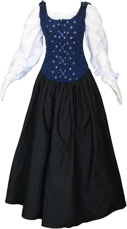 Artemisia Designs Pirate Gown Renaissance Faire Wench Medieval Dress 3 Piece Regular Plus Size