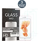 Abestbox Ultra Thin (0.26mm) 9H HD Tempered Glass Screen Protector for Apple iPhone 6s/6 Plus, iPhone 7 Plus(3 Pack)