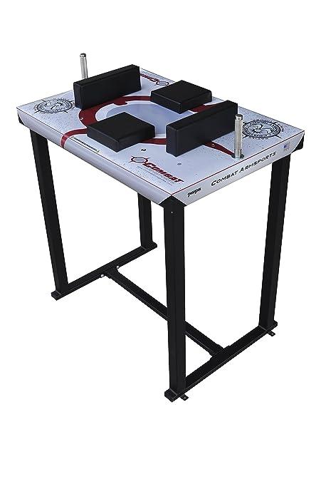 amazon com combat armsports pro series armwrestling table with rh amazon com arm wrestling table size arm wrestling table