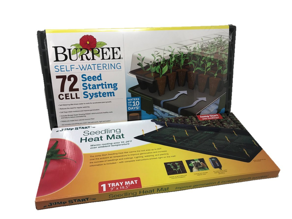 Burpee 72 Cell Ultimate Seed Starting Set with Heat Mat by Burpee