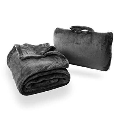 Cabeau Fold 'n Go Travel and Throw Blanket Plus Compact Case