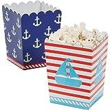 Nautical Sailor Mini Popcorn Boxes - 24 ct