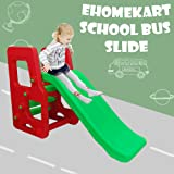 eHomeKart Garden Slide for Kids - Playgro School Bus Slider - PG-246 - for Boys and Girls - Perfect for Home / Indoor or Outdoor - (Slide Length - 110cm; Height - 80 cm) - Colour May Vary