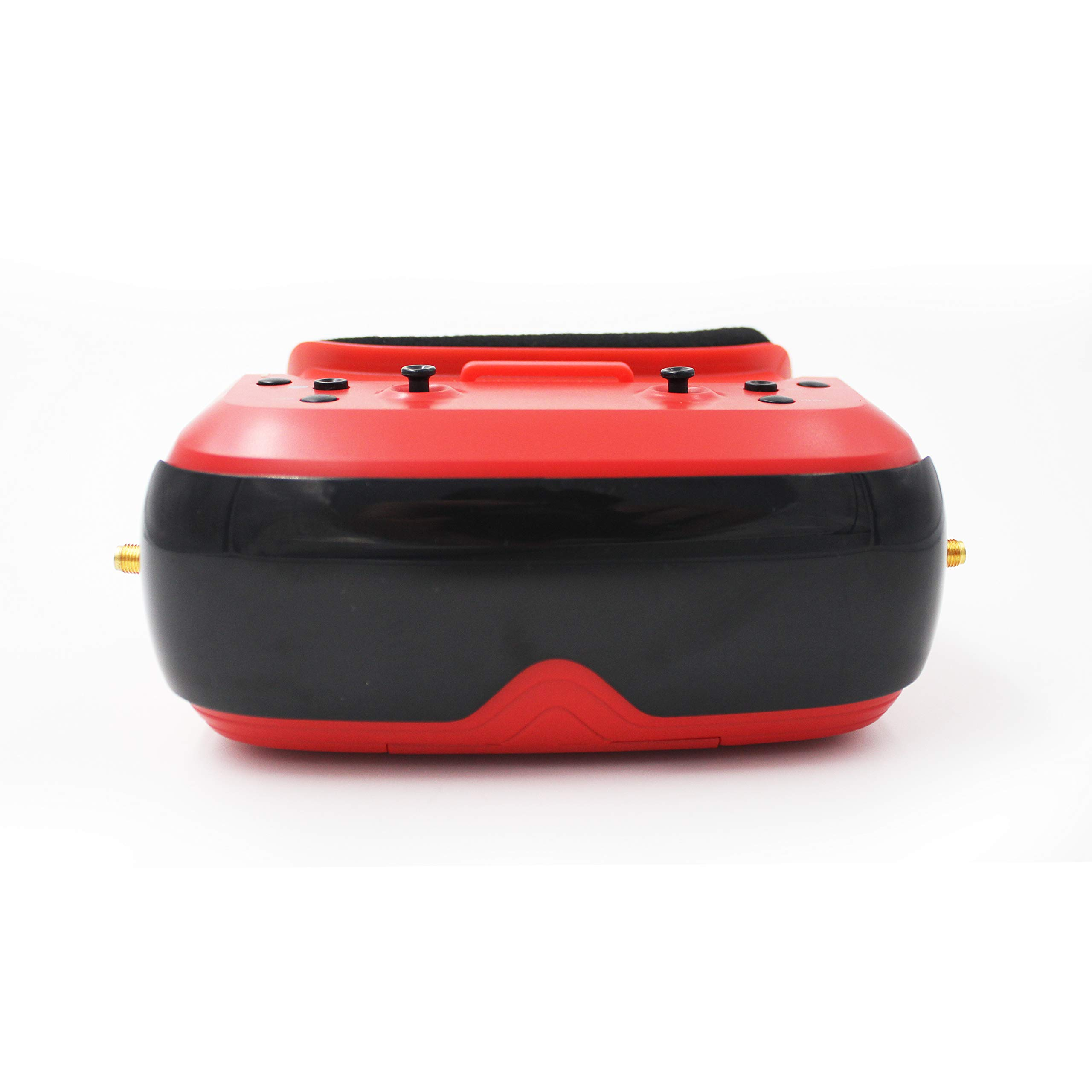 TOPSKY Prime1S FPV Goggles, Headplay Glasses 5.8G 48CH Raceband Dual Modules DVR Headset, FPV Receiver Kit with Eyepatch for Quadcopter Racing Drone (Red) by TOPSKY