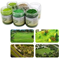 CFA5 6X 35g Mixed 2mm Static Grass Terrain Powder Green Grass Fairy Garden Miniatures Landscape Artificial Sand Table…