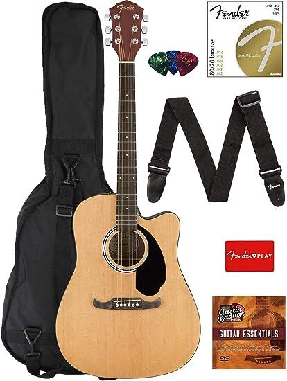 Fender FA-125CE Dreadnought Cutaway Guitarra acústica eléctrica ...