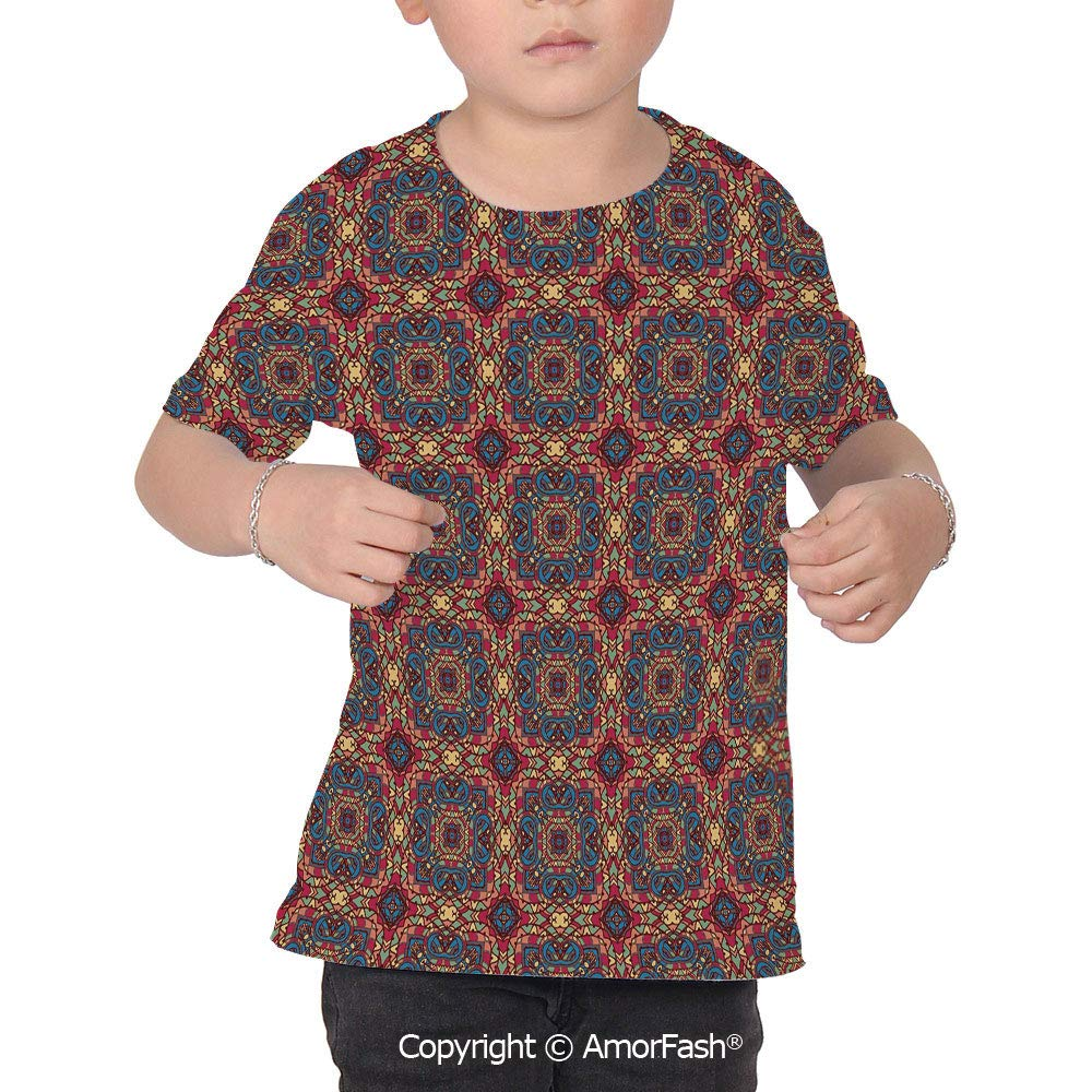 Vintage Over Print T-Shirt,Boy T Shirt,Size XS-2XL Big,Arabesque Middle East OTT
