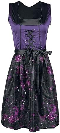 Black Premium by EMP Hedi s Dirndl Mittellanges Kleid schwarz lila ... 55a7c73f09