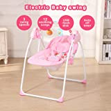 Decdeal Electric Baby Cradle Swing Rocking Remote