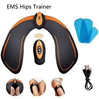 KICOFIT EMS Hip Trainer Butt Muscle Toner Fitness Training Abs Trainer Rechargeable Free with 3 Gel Pads Workout Equipment Fitting Machine for Women