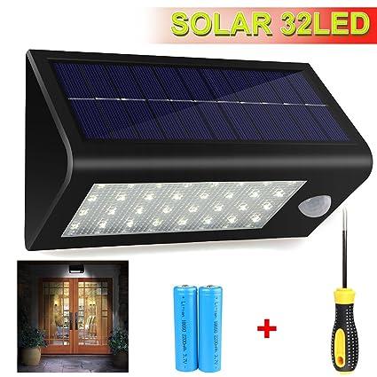Focos Led Exterior Con Sensor de Movimiento Impermeable Lamparas Solares Energia Solar con Mutiple Motos Focos Led exterior Apliques de Exterior: Amazon.es: ...